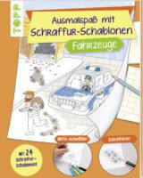Ausmalspaß mit Schraffur-Schablonen: Fahrzeuge