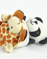 Plüschtier Panda/Giraffe